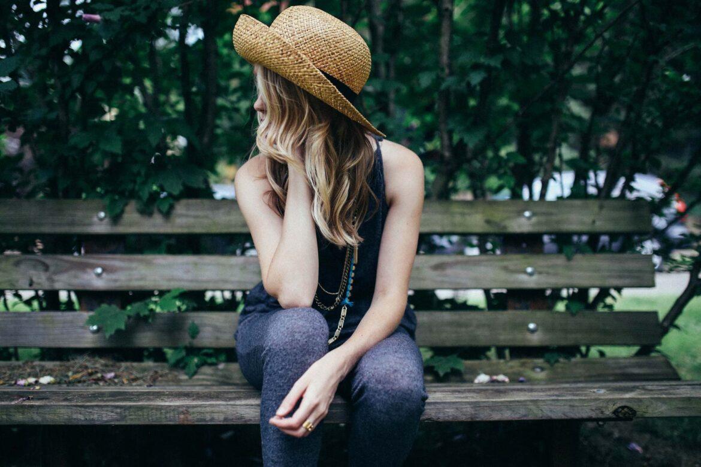 Buy Instagram Likes girl on garden bench