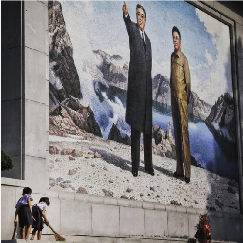 Both Eternal Leaders are omnipresent in North Korea, as Instagram shows