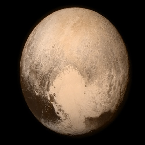 Pluto, astounding, on Instagram