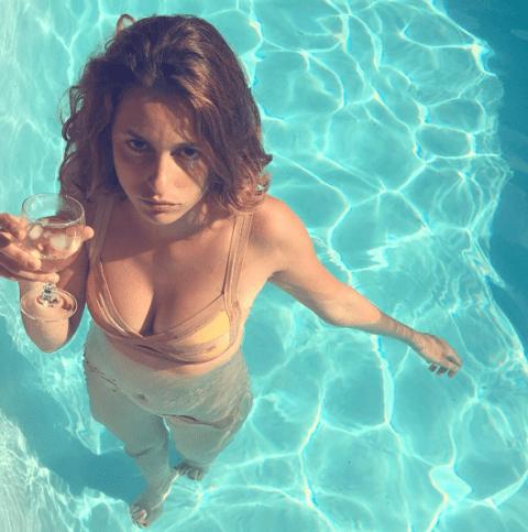 buy real instagram followers girl in swimming pool